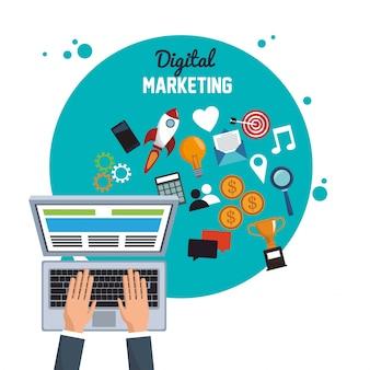 Objectif de marketing en ligne cible numérique