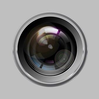 Objectif photo caméra, vecteur.
