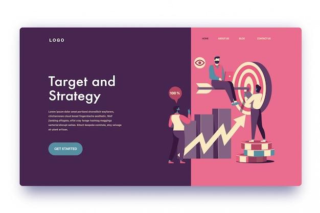 Objectif et stratégie de la page de destination