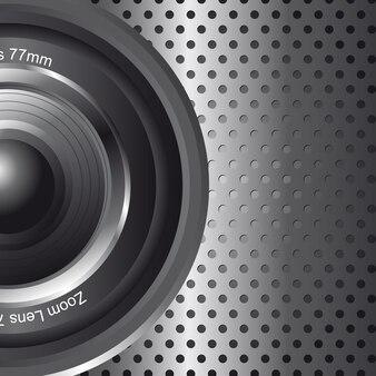 Objectif zoom avec espace pour copie illustration vectorielle de fond