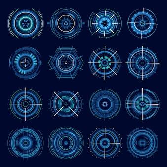 Objectifs militaires futuristes, réticule de science-fiction