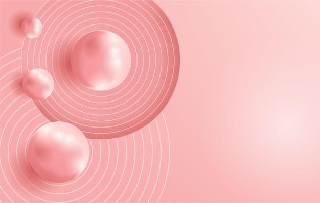 Objet 3d rose tendre de couleur de fond
