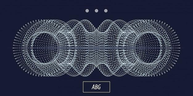 Objet abstrait de particule 3d