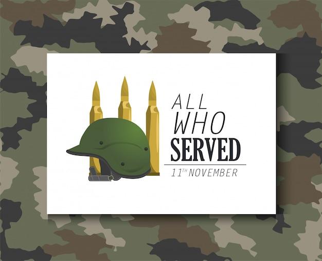 Objet casque militaire et armée de balles