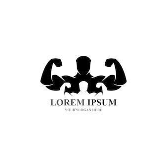 Objet vectoriel et icônes pour la conception de logo de remise en forme d'insigne de gymnase d'étiquette de sport