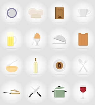 Objets et équipements pour la nourriture.