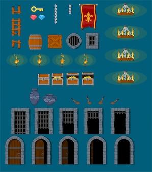 Objets de jeu de donjon médiéval
