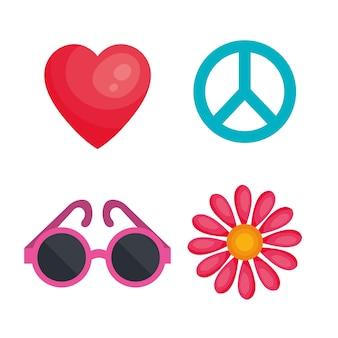 Objets liés à hippie