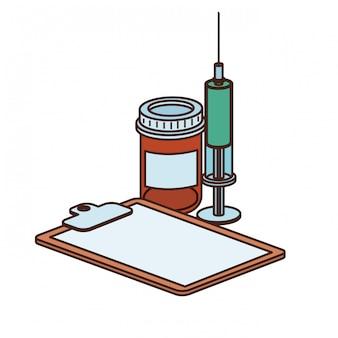 Objets de médecine isolés