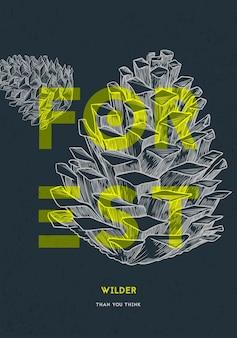 Objets naturels de la forêt. illustration vectorielle