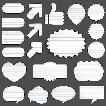 Objets en papier ligné