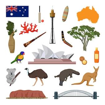 Objets vectoriels associés à l'australie