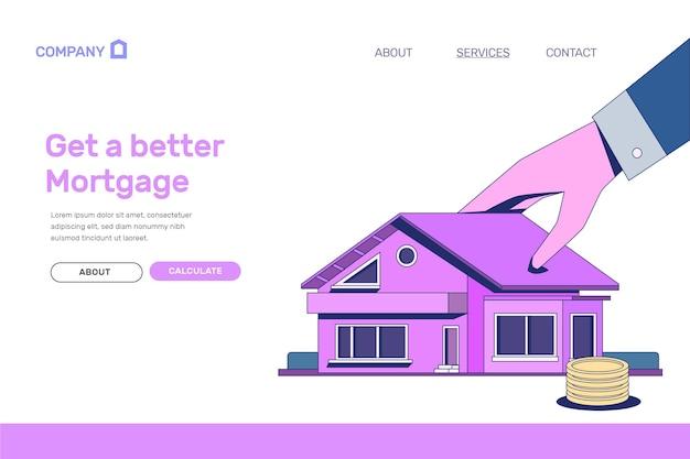 Obtenez une meilleure page de destination hypothécaire