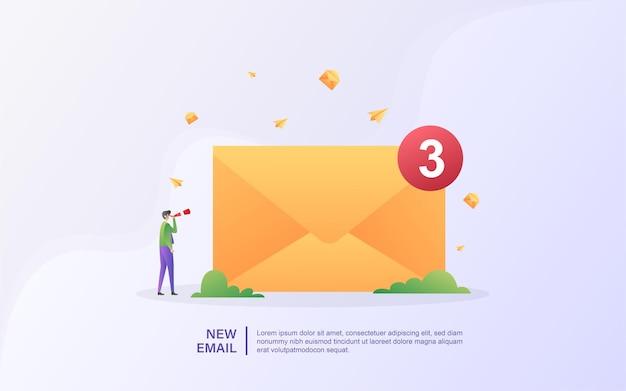 Obtenez une nouvelle illustration d'e-mails
