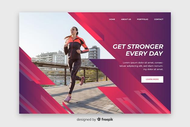 Obtenez plus fort chaque jour la page d'atterrissage sportif