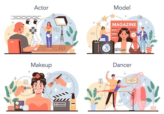 Occupation artistique et showbusiness set acteur danseur maquilleur