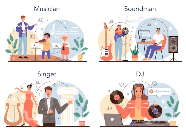 Occupation musicale set musicien sound designer dj et chanteur