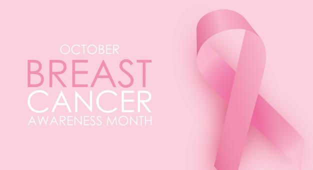 Octobre concept du mois de sensibilisation au cancer du sein.