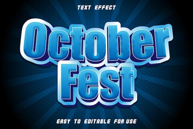 Octobre fest effet texte modifiable en relief style moderne