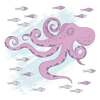 Octopus dream tropical sous-marin