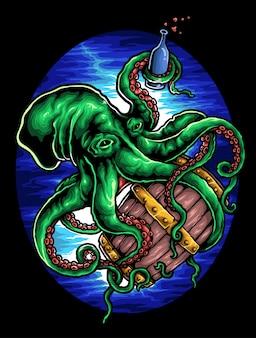 Octopus sous-marin