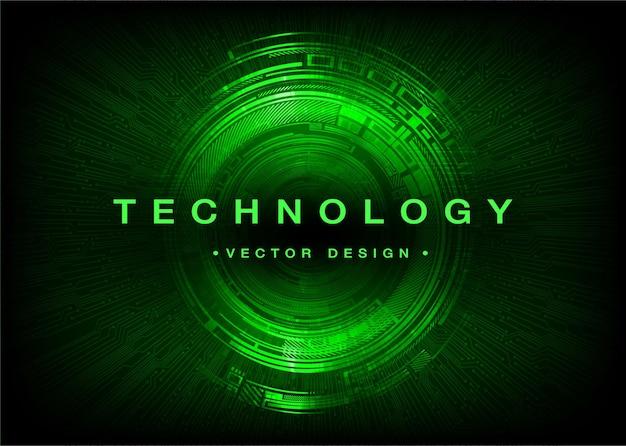 Oeil cyber circuit futur concept de technologie fond
