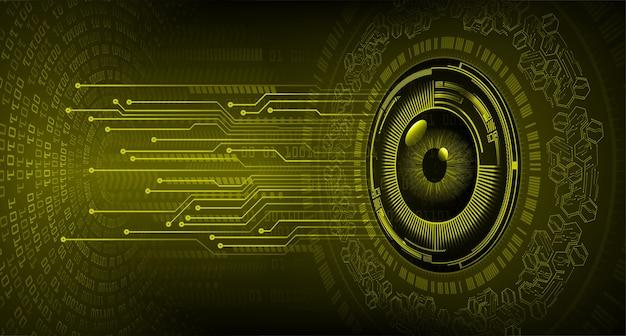 Oeil cyber circuit futur concept technologique