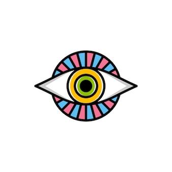 Un oeil de dieu signe religieux symbole logo logo