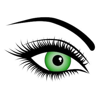 Oeil, sur fond blanc, mode, illustrations vectorielles