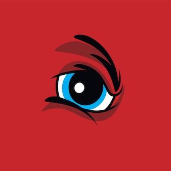 Oeil de monstre en colère