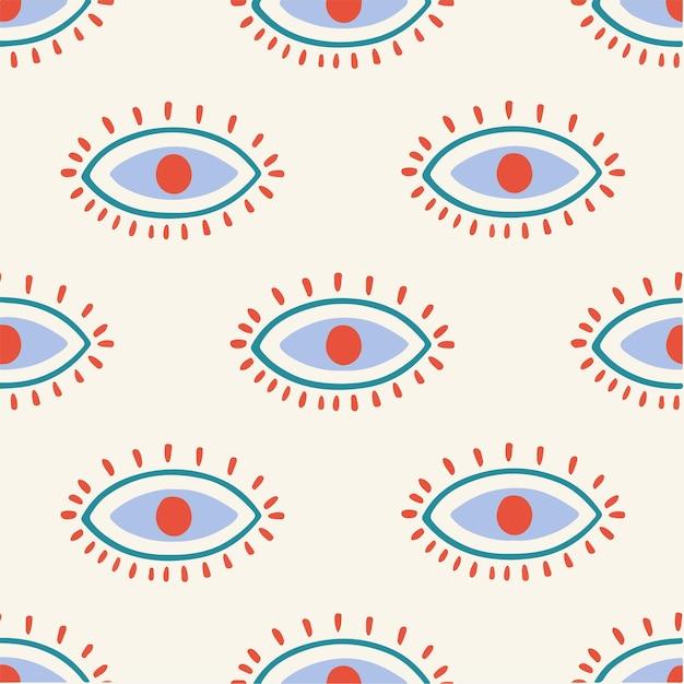Oeil motif fond médias sociaux post illustration vectorielle