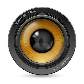 Oeil de l'objectif de la caméra
