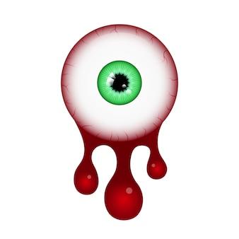 Œil de sang de halloween