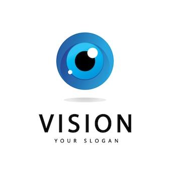 Oeil de vision conception de vecteur de logo vectoriel