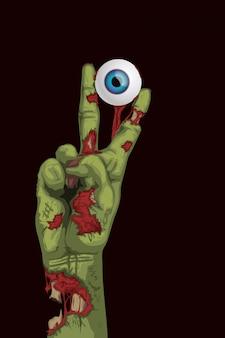 Oeil de zombie main hoding