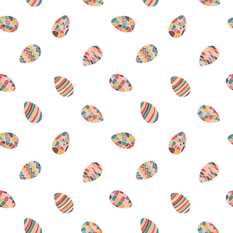 Oeufs de pâques sans soudure vector illustration isolé sur fond blanc