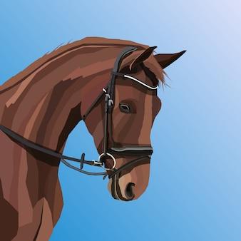 Oeuvre créative cheval pop art vectoriel