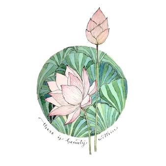 Oeuvre de lotus