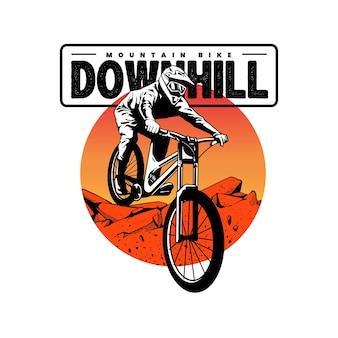 Oeuvre de vélo de montagne