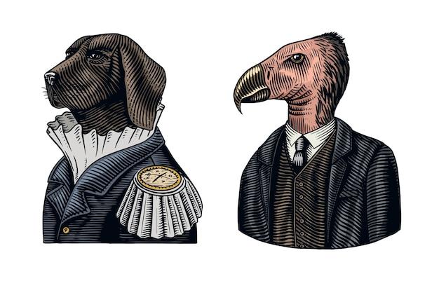 Officier de chien et gentleman condor de californie.