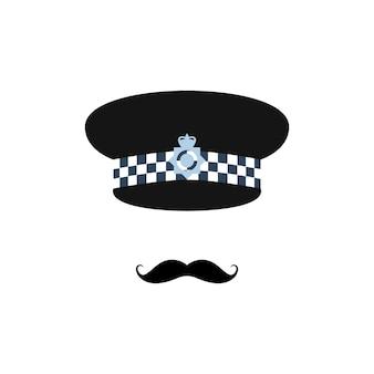Officier de police de londres sur fond blanc