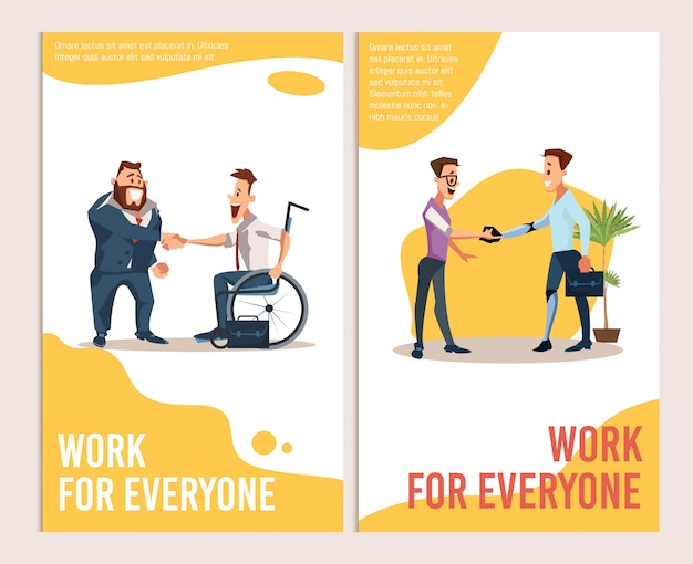 Offre de carrière pour les bannières pour personnes handicapées