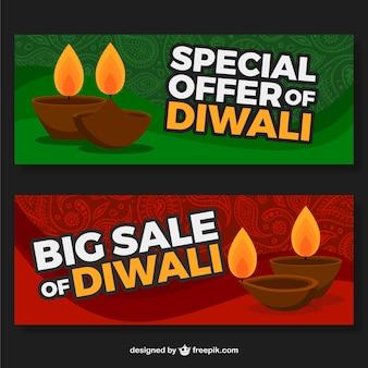 Offre de diwali spéciales bannières