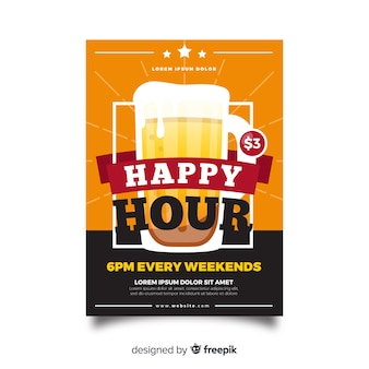 Offre du week-end avec affiche happy hour