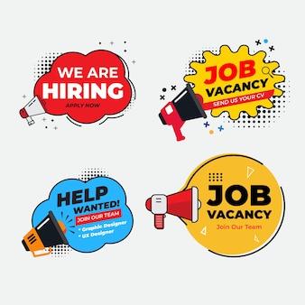 Offre D'emploi Que Nous Recrutons Vecteur Premium
