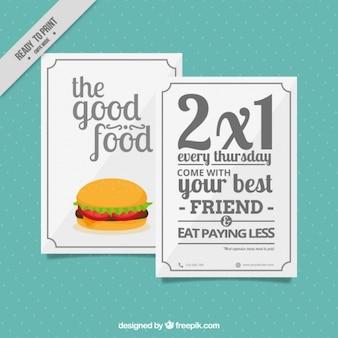 Offre de hamburger brochure