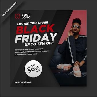 Offre limitée black friday instagram post