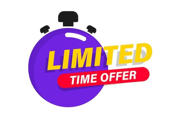 Offre limitée avec chronomètre bannière promotionnelle offre de dernière minute offre de dernière minute vente d'un jour