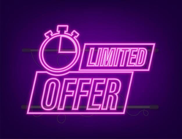 Offre limitée, excellent design pour tous les usages. icône néon. meilleur produit. illustration vectorielle de stock.