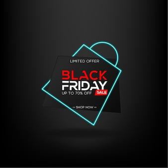 Offre limitée de vente de vendredi noir avec style de sac néon